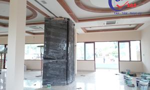 Compact HPL thi công gấp vách ngăn di động tại khách sạn Song Anh