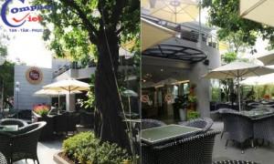 Compact HPL tạo nên nét độc đáo dành cho khu vách ngăn vệ sinh thuộc chuỗi Café Sài Gòn Phố nứt tiếng Sài Thành tại Bình Thuận